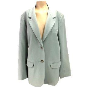 Eddie Bauer Wool Blazer Mint Green Jacket L Tall